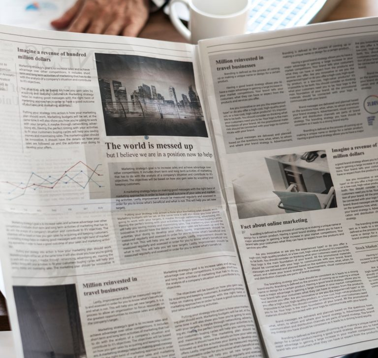 Open newspaper